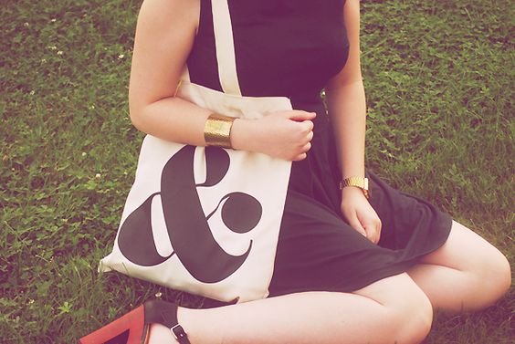 Laura of Laura Loves Clothes blog with our & tote