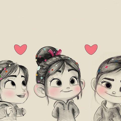 Sketch Wreckitralph2 For Vanellope رسم Disney Cute Cartoon Wallpapers Cute Disney Wallpaper Disney Wallpaper