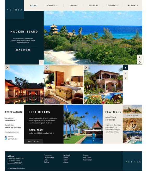 AETHER Branding & Website Concept 1 on Web Design Served