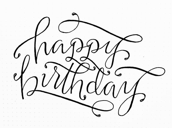 happy birthday lettering // by torrie t. asai