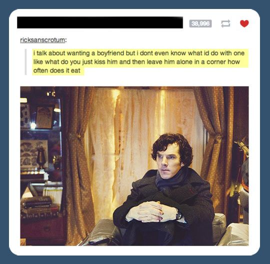 :) Sherlock tá engraçado nessa foto