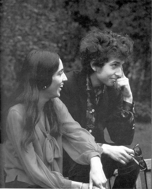 Their music and poetry inspired a whole generation. Joan Baez and a baby-faced Bob Dylan.
