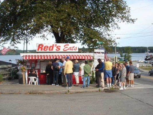 red's,  maine - in honor of my wife, who says this is the the best lobster roll. I had something else but was delicious! Stumbled by this place on accident driving through Maine for the MaineLobsterFest