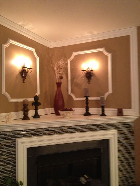 Corner fireplaces corner fireplace decorating and fireplaces on pinterest - Decorating ideas for fireplace walls ...