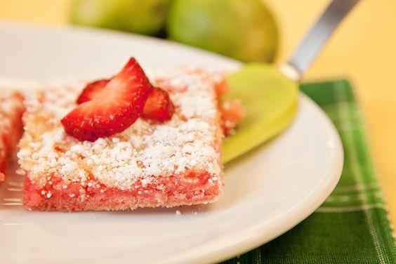 Dessert Contest Winner: refreshing Strawberry Limeade Bars