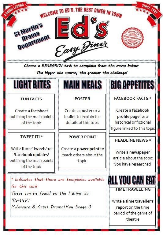 Diner menu Diners and Homework on Pinterest Homework