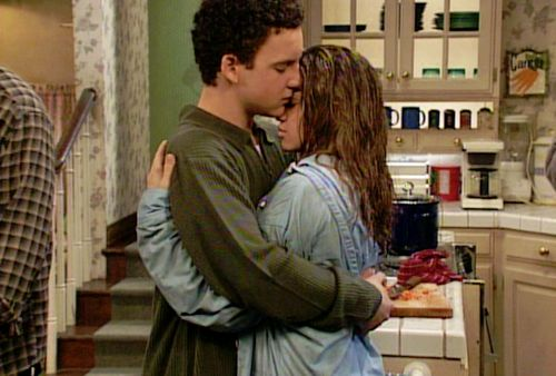 """""""All I understood was that she was the girl I sat up every night thinking about, and when I'm with her, I feel happy to be alive. Like I can do anything. Even talk to you like this. So that's, that's what I think is love, mom. When I'm better because she's here."""" - Cory Matthews, Boy Meets World"""
