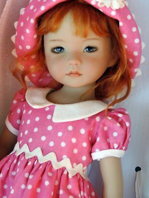"Dianna Effner Little Darling 13"" Vinyl Doll Painted by Geri Uribe:"