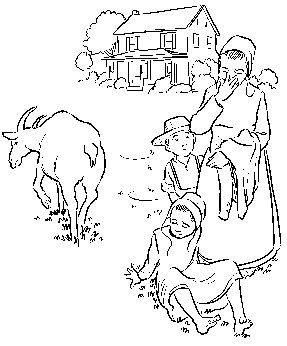 lily lapp fall coloring page - Amish Children Coloring Book Pages