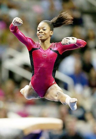 """Gabby Douglas: Gymnastics  0     Age: 16  Hometown: Virginia Beach, VA  Girl guide: The 4-foot-11 Vampire Diaries fanatic left her family at age 14 to train alongside 2008 Olympics darling Shawn Johnson in Iowa. """"She's given me so much,"""" Douglas, who's home-schooled, tells Us. """"She tells me never to give up."""" - Click image to find more Sports Pinterest pins"""