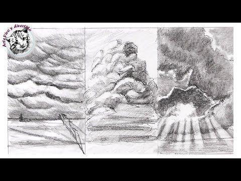 Como Dibujar Nubes Con Lapiz Muy Facil Y Paso A Paso Youtube Dibujos De Nubes Cielo Dibujo Como Dibujar