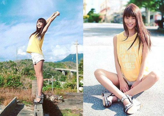 スポーツスタイルの岡副麻希の美人でかわいい画像