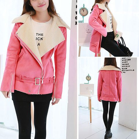 """price:36.99usd  Style:Fashion  Color:Rose  Material:Faux Suede  Size:S/M/L/XL/XXL  S:Bust:90cm(35.43"""");Shoulder:37cm(14.57"""");Length:67cm(26.38"""");  M:Bust:94cm(37.01"""");Shoulder:38cm(14.96"""");Length:68cm(26.77"""");  L:Bust:98cm(38.58"""");Shoulder:39cm(15.35"""");Length:69cm(27.17"""");  XL:Bust:102cm(40.16"""");Sh..."""
