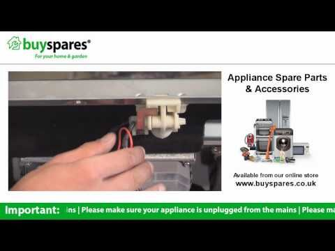 How to replace the door handle on a dishwasher, BuySpares 'how to videos'.