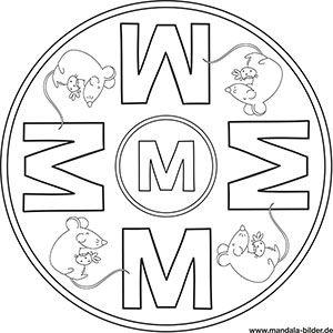 Buchstaben Mandalas Abc Ausmalbilder Zum Ausdrucken Ausmalbilder Zum Ausdrucken Buchstabe M Und Vorlagen Zum Ausmalen