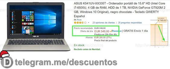 Portátil Asus i7-6500U 1TB sólo 549 - http://ift.tt/2hMAqMn