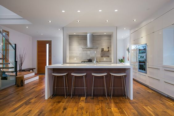 Open concept kitchen / eating area at 4036 w 33rd ave.