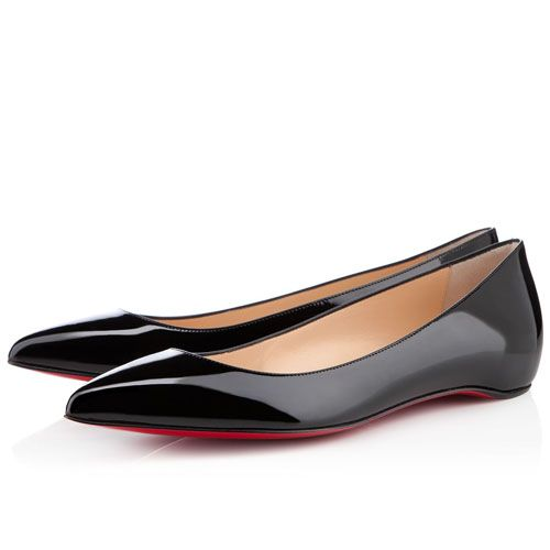 """""""Black Pigalle Patent Leather"""" Flats by Christian Louboutin"""