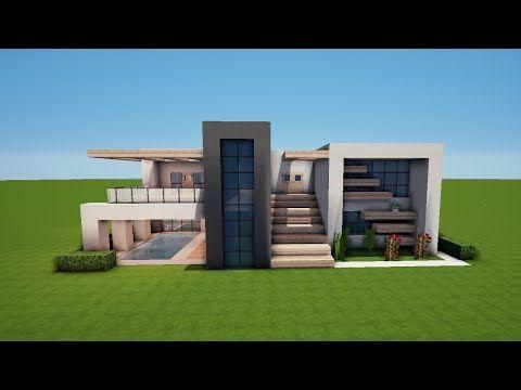 Minecraft Tutorial Howto Wie Baue Ich Ein Modernes Haus 003