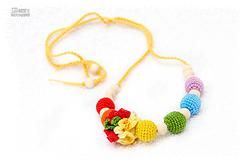 Wooden Nursing Necklace - Petite Colorful Rainbow #nursingnecklace #nursing #breastfeeding