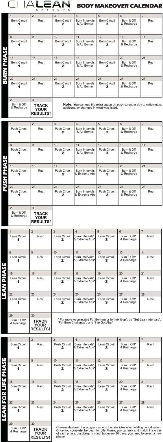 Worksheets Chalean Extreme Worksheets chalean extreme calendar ari and i are in week 3 of the burn phase love this program workouts pinterest programming work