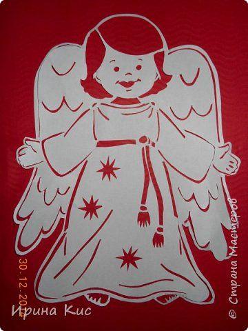 Поделка изделие Новый год Рождество Вырезание Вытынанки к Рождеству  Бумага фото 1: