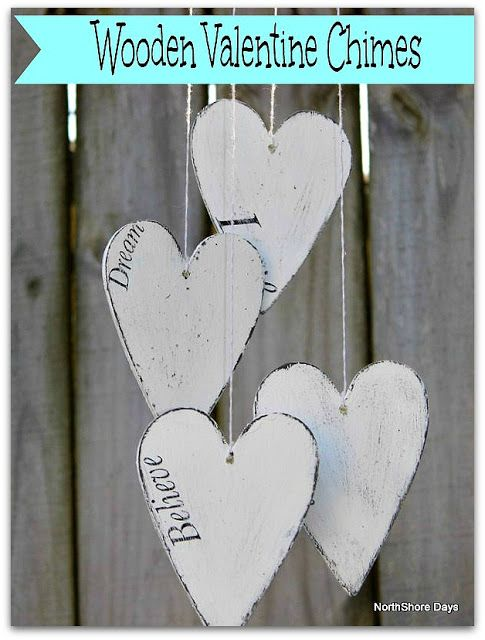 NorthShore Days.....: Wooden Valentine Chimes