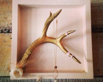 Antler jewelry hanger
