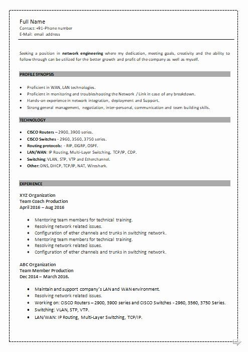 Cisco Network Engineer Resume Fresh Ccna Resume Samples Top 5 Ccna Resume Templates In Doc In 2020 Job Resume Samples Network Engineer Resume