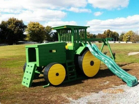 John Deere Tractor Playhouse Plans : John deere tractors and on pinterest