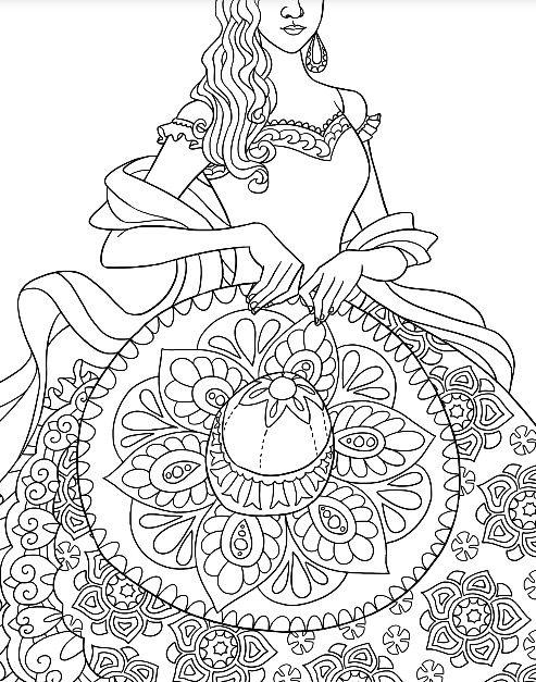 Mexican Beauty To Color With Colormatters App Dibujos Para Colorear Dibujos Colores