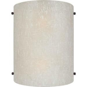 Hallway or Living room sconce - Illumine 2 Light Wall Sconce Antique Bronze Finish Umber Linen Glass-CLI-FRT5125-02-32 at The Home Depot