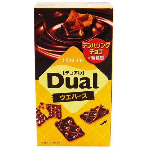 Lotte Dual  Chocolate Covered Wafers (Uehasu Dyuaru) 52g