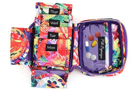 Pill Organizer - Paradise Floral