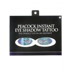 Instant Eye Shadow Tattoo - Peacock Print
