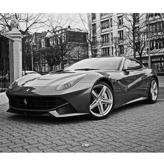 Beautiful Black & White F12 Berlinetta