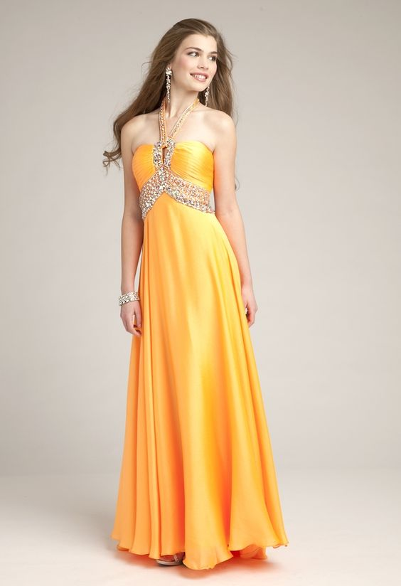 Prom Dresses 2013 - Chiffon Pleated Halter Dress from Camille La Vie and Group USA