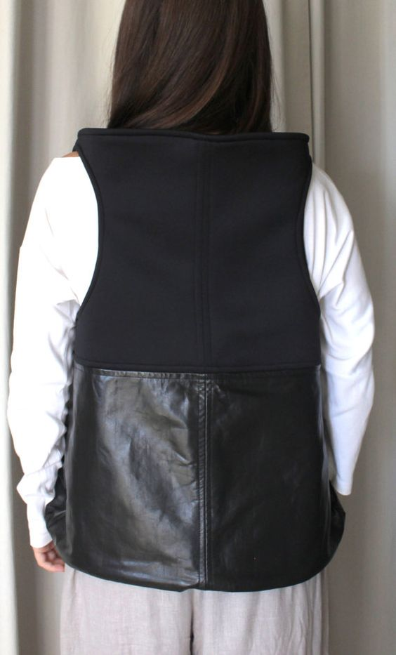 backpack piel y neopreno negro mochila por ElTallerAnaGaspar