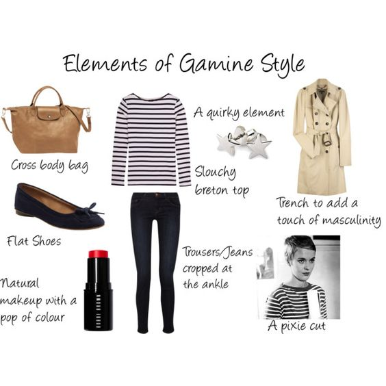 """Elements of Gamine Style"" by victoriastyle on Polyvore"