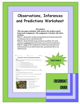 observations inferences and predictions worksheet worksheets first page and the o 39 jays. Black Bedroom Furniture Sets. Home Design Ideas
