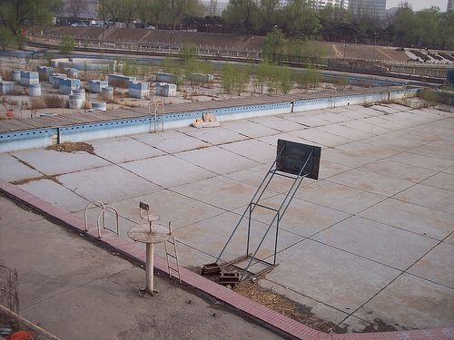 Abandoned Pool In Olympic City Beijing Pool Pinterest Beijing Pools And Abandoned