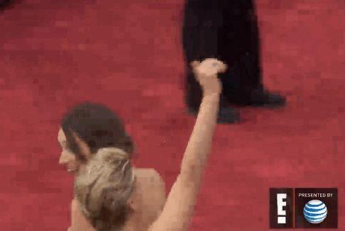 Jennifer Lawrence fell at the Oscars again.  SMH!