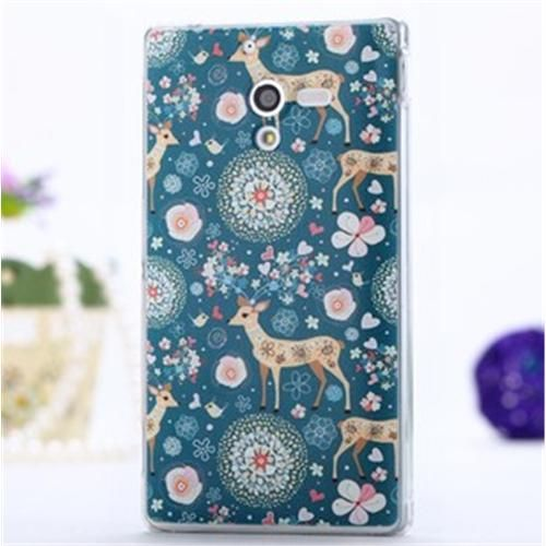 LOTIYO Brightly Fine Plum Deer PC Painted Series Hard Case For Sony Xperia ZL