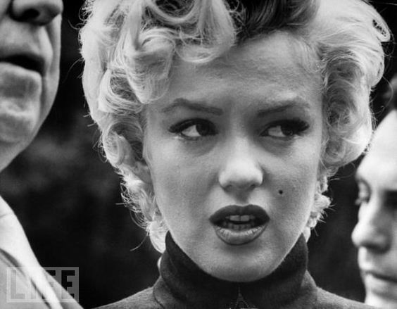 Marilyn Announces Her Divorce  October 1954: A tearful Monroe announces to reporters that she and baseball great Joe DiMaggio will divorce after less than one year of marriage