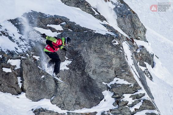 Snowboard freeride professional Max Zipser