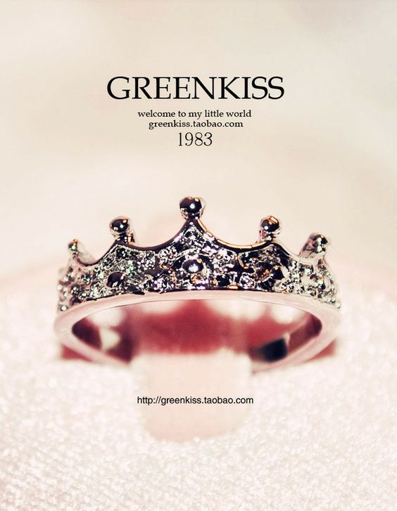 Princess crown ring. Because every girl deserves to be a princess.