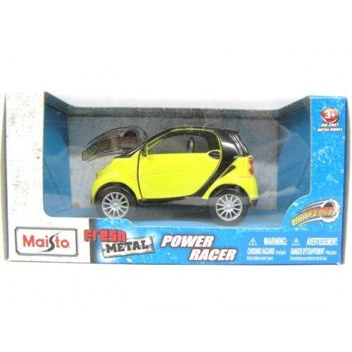 Maisto Yellow Smart Fortwo Open Door Diecast Metal Car