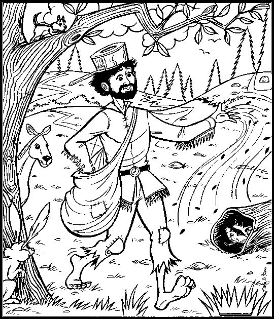 Coloring Pages Johnny Appleseed : Coloring bud and pages on pinterest