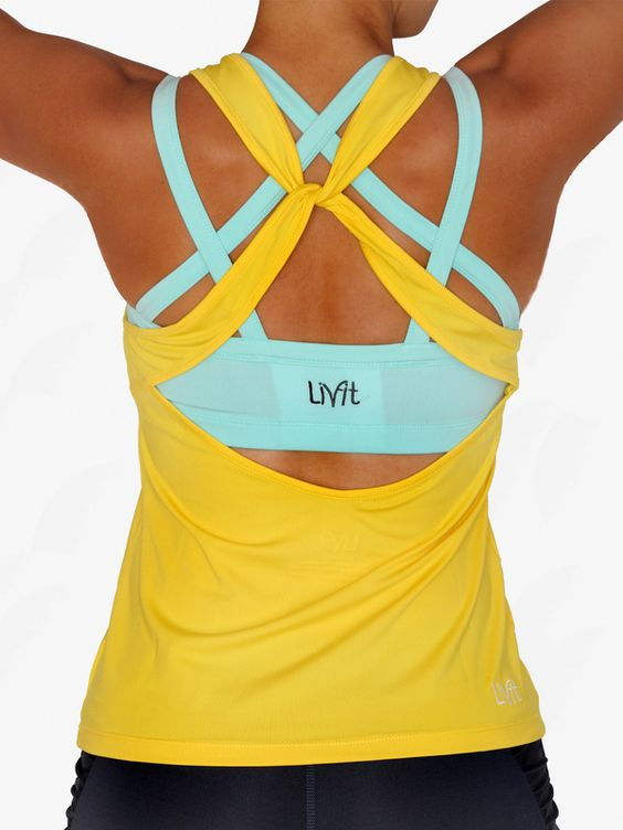 Super cute workout clothes from LivFit.... Crazy supportive sports bra! I love the bright colors. Makes me want to wear workout clothes all day!