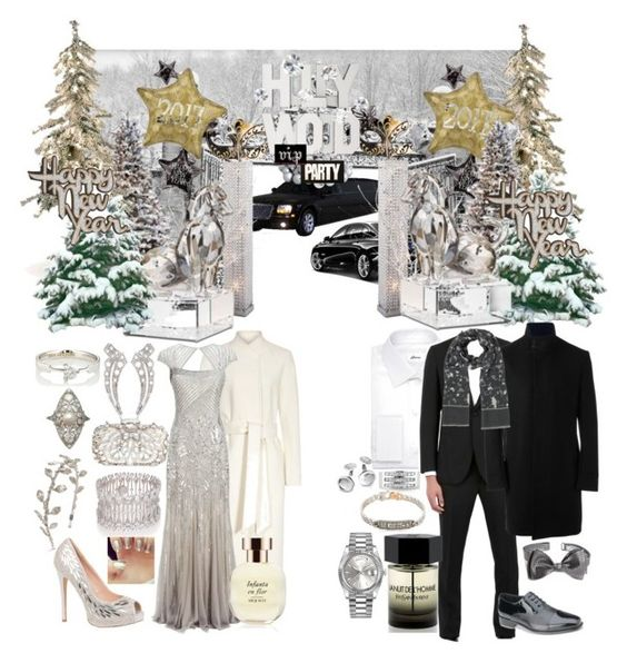 """happy new year 2017"" by cherizard ❤ liked on Polyvore featuring Reiss, Adrianna Papell, Ana Khouri, Colette Malouf, V Jewellery, BMW, Adriana Orsini, Lauren Lorraine, Natasha Couture and Improvements"